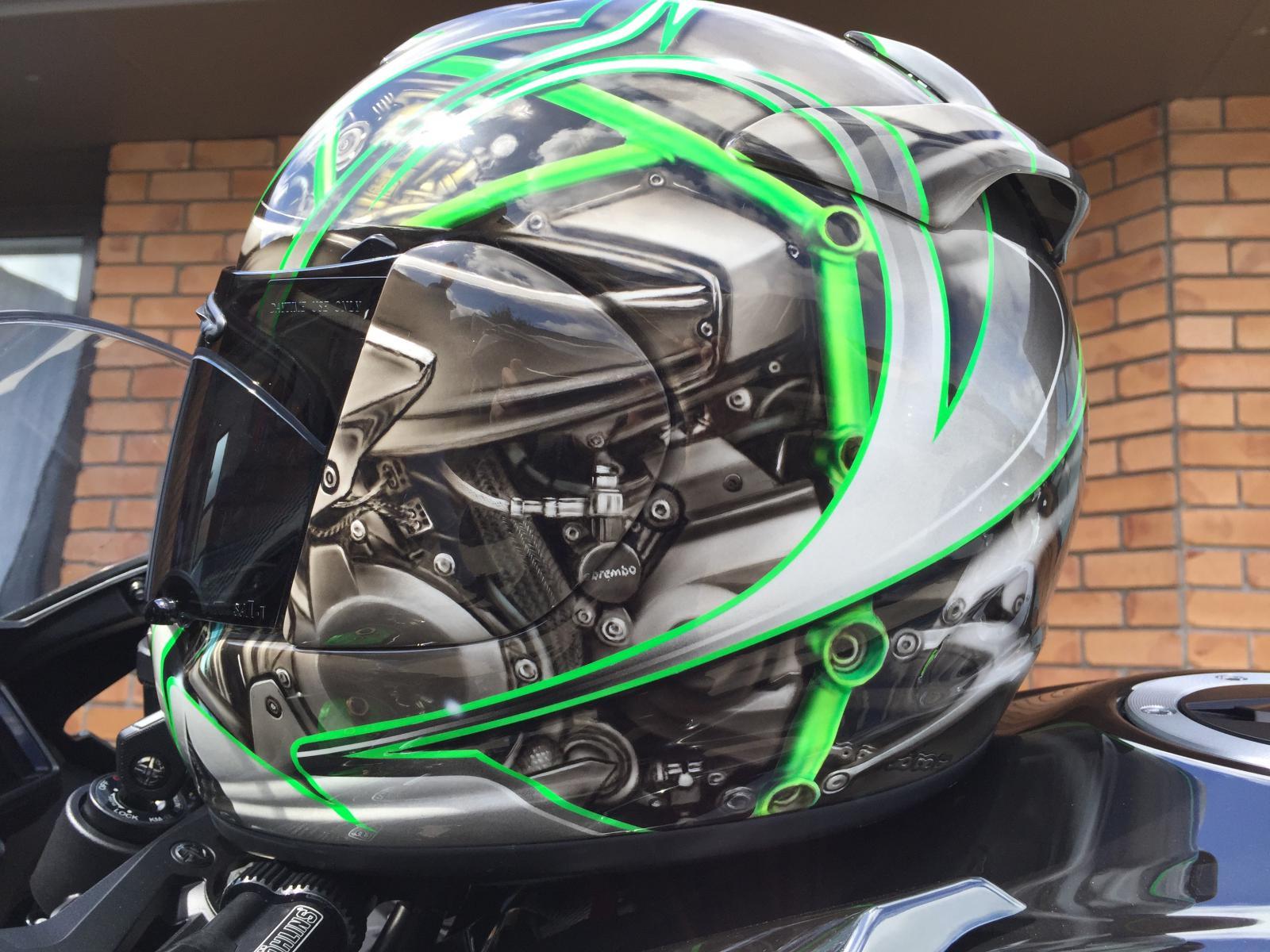 Kawasaki H2 Customised Arai Helmet Built Beyond Belief